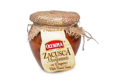 Zacusca  Munteneasca cu Ciuperci olympia