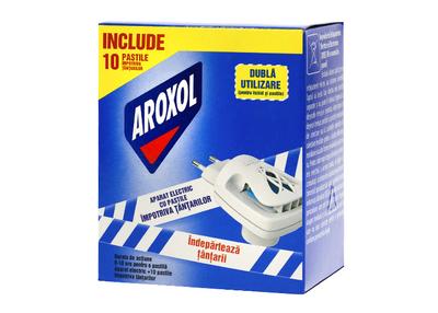 Aparat electric Aroxol cu lichid împotriva țânțarilor