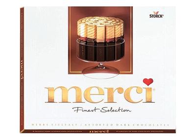 Merci dark chocolates