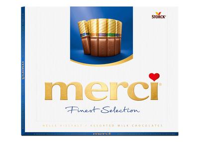 Merci milk chocolates
