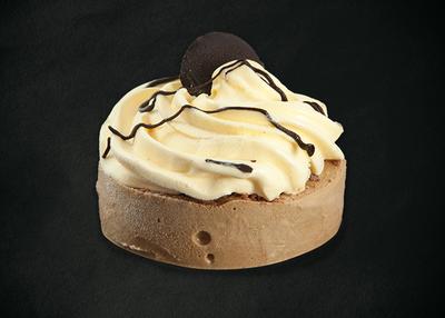 Desert cu înghețată cookies și cafea