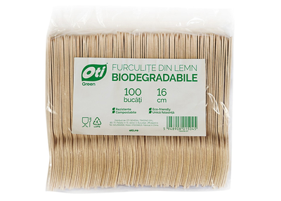 Furculite din lemn biodegradabile