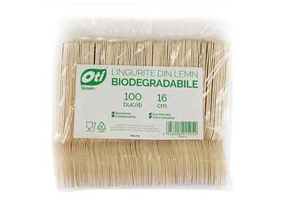 Lingurite din lemn biodegradabile
