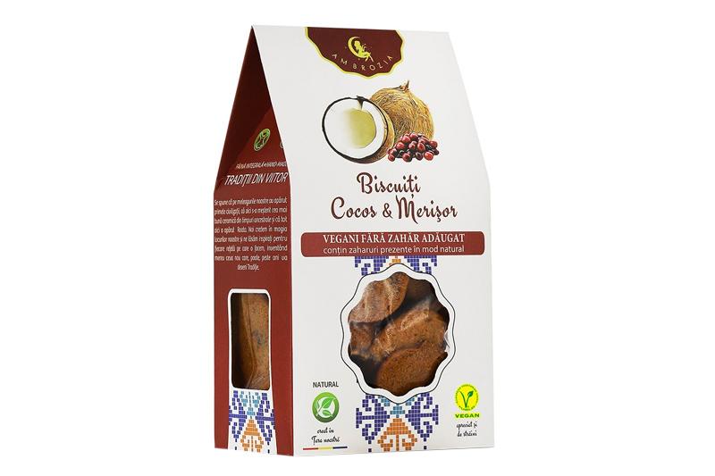 Biscuiti cocos si merisor
