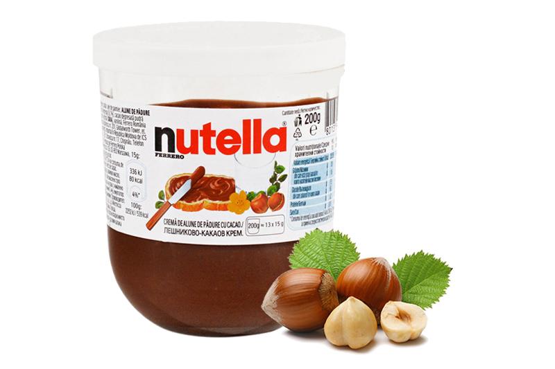 nutella cremă de alune cu cacao