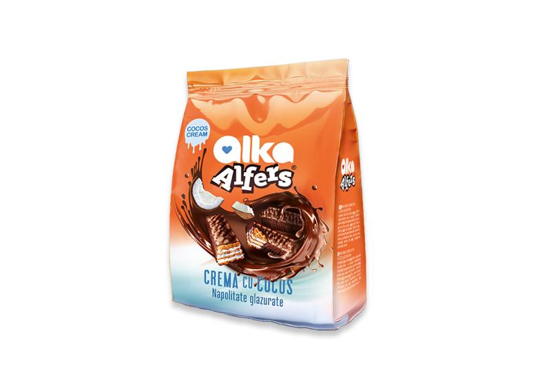 Alfers Napolitane crema cocos